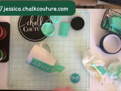 Chalk Couture Demo- How to Couture Ink On Ceramic Mug
