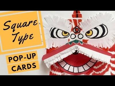Demo Pop-up Card - How to make an Auspicious Lion (Opposing V-Folds)