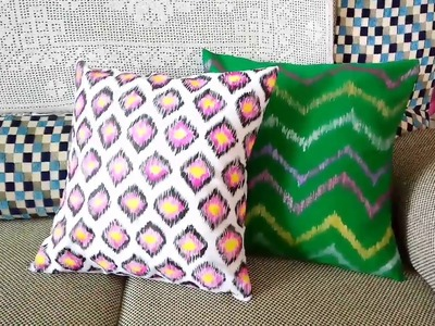 DIY-9 Ikat Pattern cushion cover