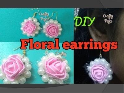 DIY Flower Jewelry For Brides | Flower earings | CraftyPuja | #40