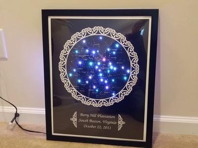DIY Framed Custom Star Map with FIber Optic Lighting