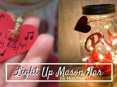 DIY Light Up Mason Jar for Him.Her ????