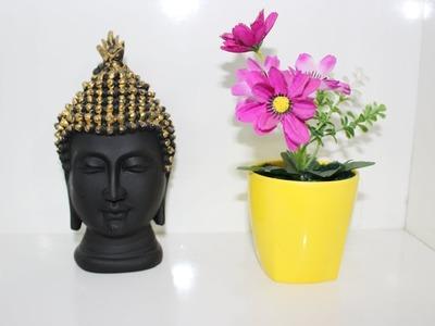 DIY - Make artificial flower pot from broken cup