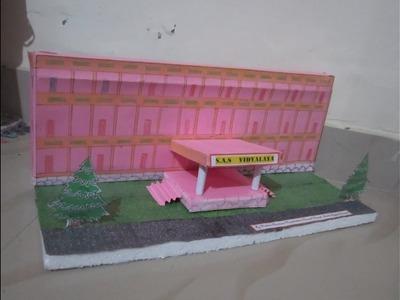 DIY - My School Model using Chart Paper - VISHNU HARIDASS(10yrs old)