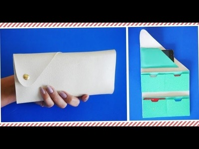 DIY Purse With Cell Holder - No sew - Easy To Make | Clutch Purse