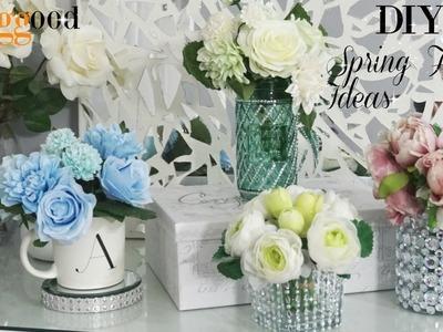 DIY SPRING FLORAL ARRANGEMENTS | DIY HOME DECOR IDEAS 2018  | FT  BANGGOOD FLOWERS | DIY ROOM DECOR