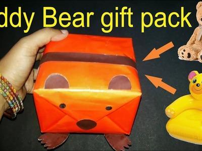 DIY | Teddy Bear gift pack in easy steps