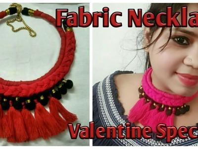 Diy | Valentin special | fabric necklace | silk thread necklace | Rope necklace | tassel necklace |