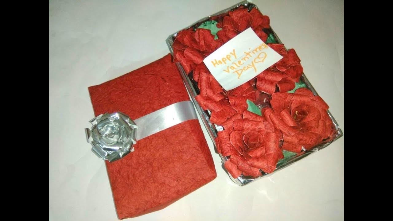 Diy Valentine Day Gift Box How To Make Rose Gift Box Valentine Day