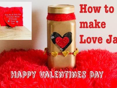 DIY Valentine's day: How to make Jar of love. Valentines Gift
