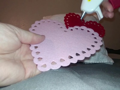 DIY Valentine's Day Pocket Pillow with Dollar Tree supplies
