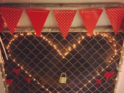 DIY Valentines Day love lock gate   Shop decorations