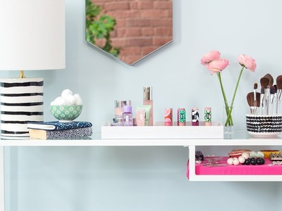 diy vanity makeup station ideas inspired by marimekko for clinique