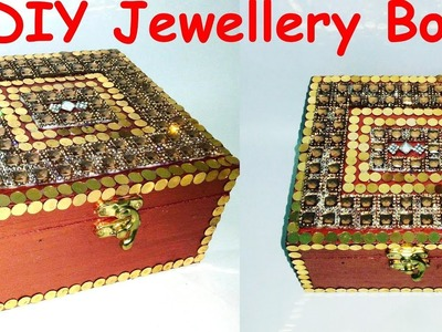 DIY Wooden Jewellery Box Decoration for wedding and festivals !!
