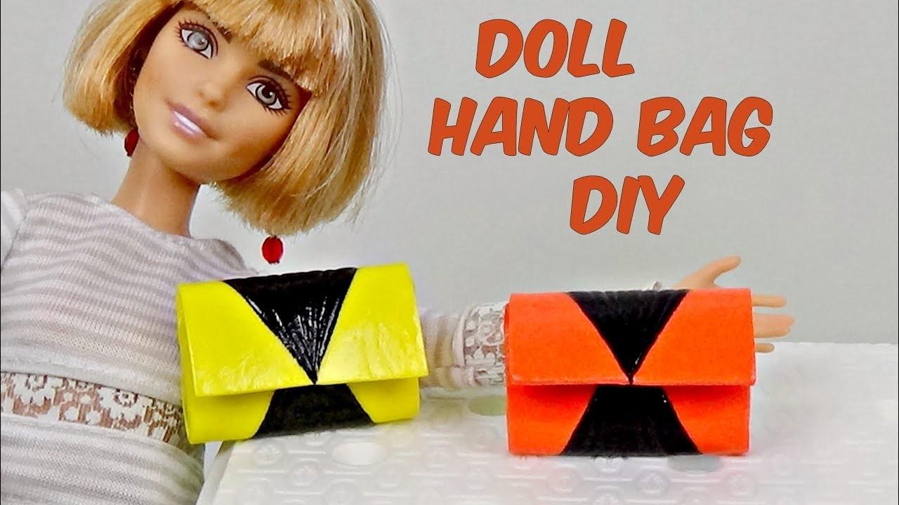 Doll hand bag Diy │ How to make doll purse  │ DIY For Dolls