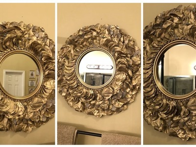 Dollar Tree DIY - ???? Gold Rose Petal Wall Mirror ????