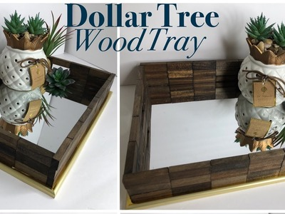 Dollar Tree DIY Wooden Mirror Tray | DIY Vanity Tray