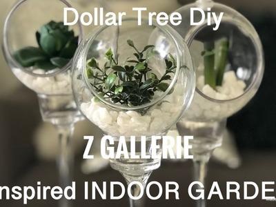 Dollar Tree Diy || Z GALLERIE Inspired INDOOR GARDEN ????????????