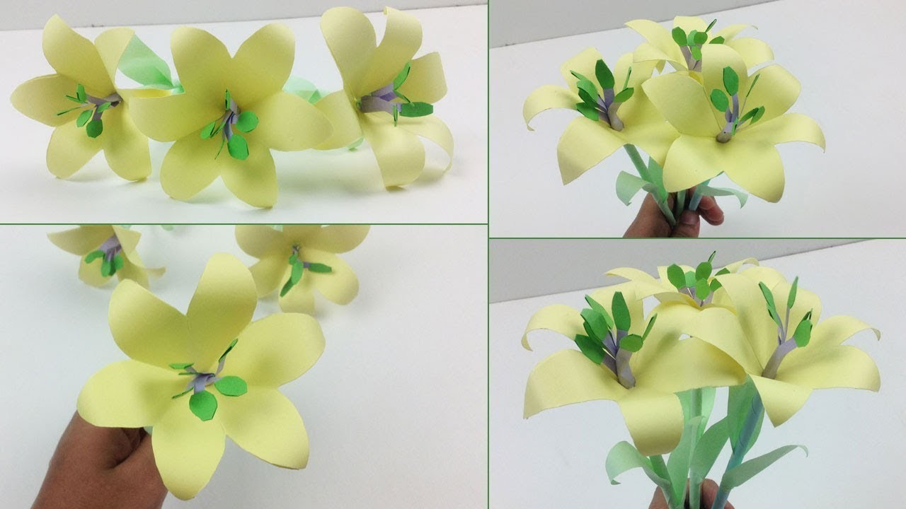 How To Make Simple Paper Flowers Easy Flowers Healthy