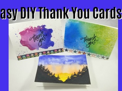 Easy Diy Thank You Cards | Watercolor