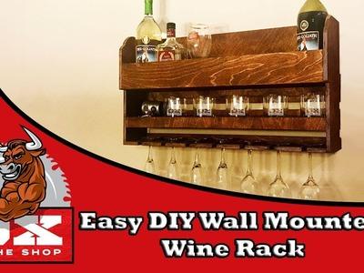Easy DIY Wall Mounted Wine Rack