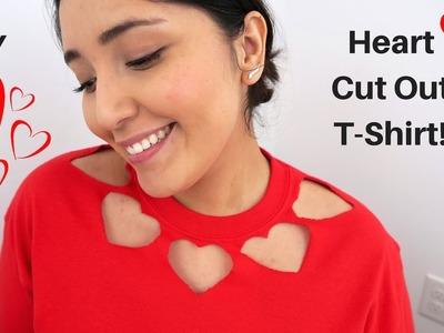 EASY Heart Cut Out T-Shirt!   DIY