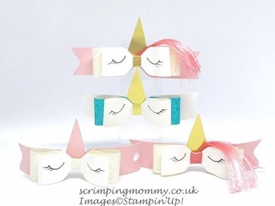 Easy Unicorn paper bows with hair !