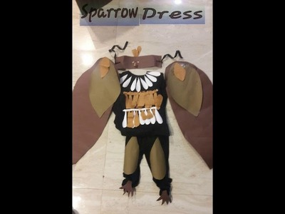 Hand made paper fancy dress Bird costumes