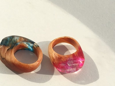 木とレジンの指輪 霞 How to make wood and epoxy ring including Haze