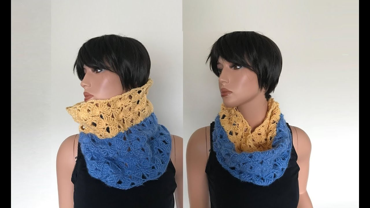 How to Crochet Cowl. Neck Warmer. Loop Scarf Pattern #701│by ThePatternFamily