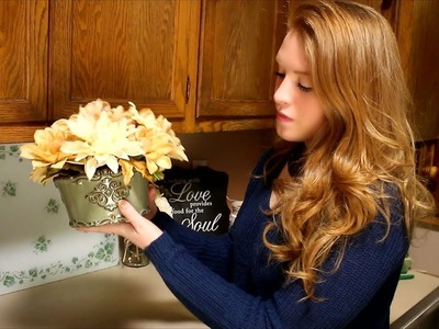 How To DIY a Floral Arrangement with an Old Candle Holder