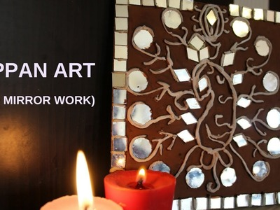 How to do Lippan Art || Mirror work || Wall Decorating Ideas with Clay