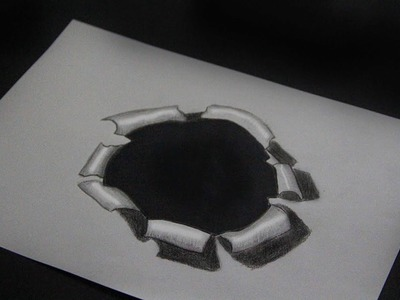 How to Draw 3D in a Hole - Trick Art on Paper