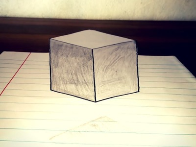 How To Draw Floating Cube - 3D Trick Art on Paper (Optical Illusion)