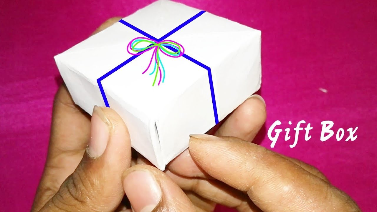 How to make a Gift Box with one sheet of white paper | Home made creation | 360 DIY