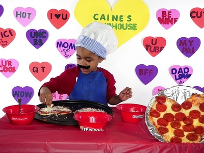 How to make a heart shaped pizza with Caine's Clubhouse