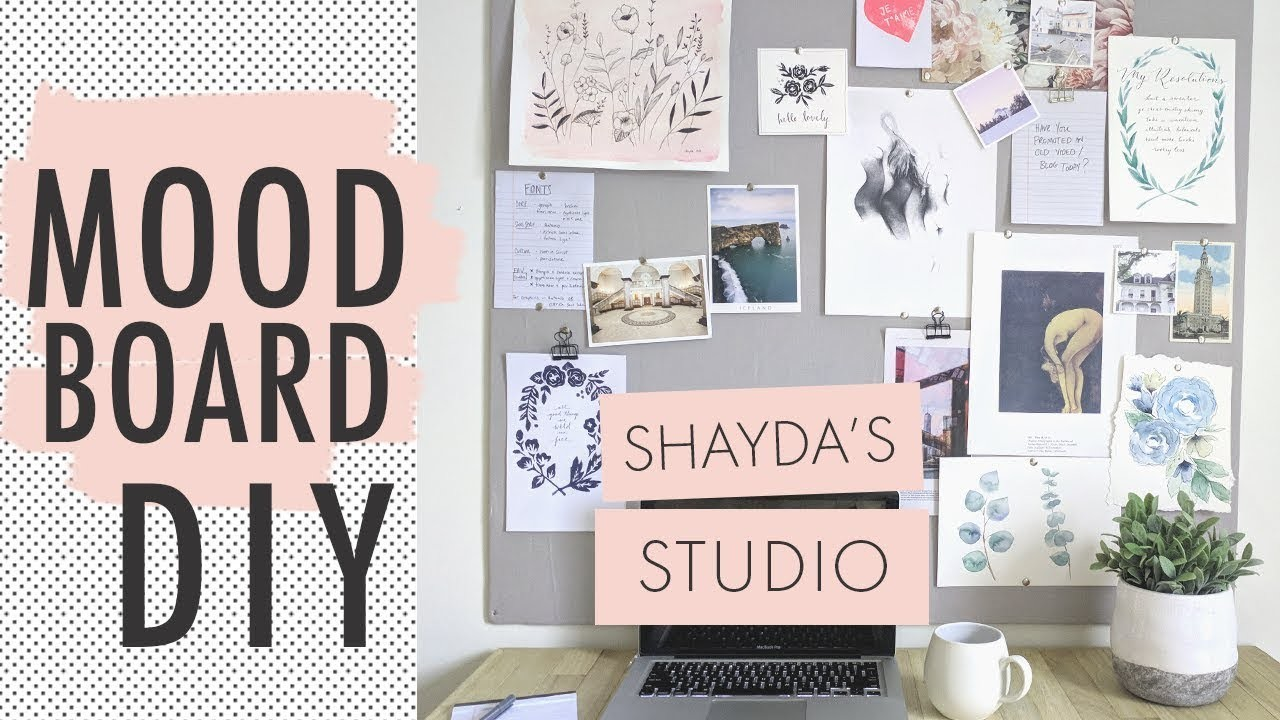 How To Make A Moodboard | Productivity + Organization!