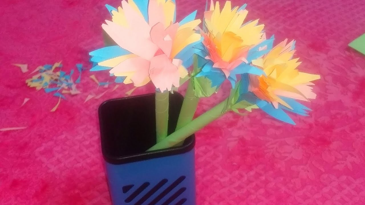 How To Make Aster Flower With Paper Diy Paper Flower Crafts