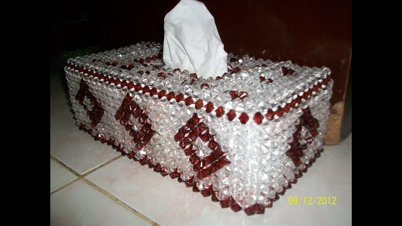 How To Make Beaded || Tissue Box  Part Two ( 2 )