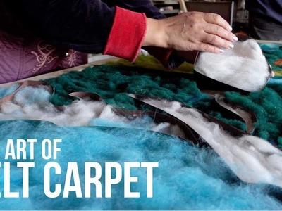 How to Make Custom Made Felt Carpets in Kyrgyzstan   The Art of Felt Carpet