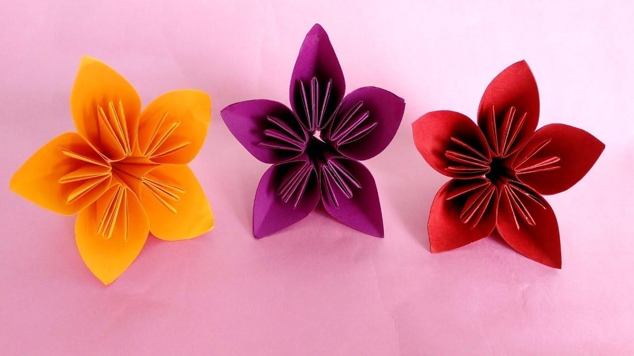 How To Make Easy Origami Flower Kusudama Paper Flower