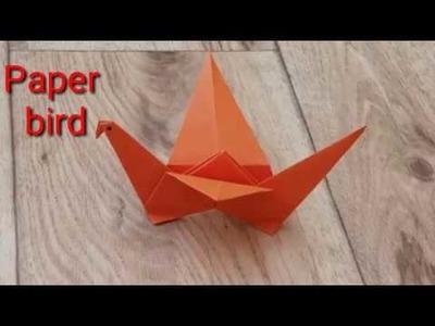 How to make paper bird, कागज की चिड़िया बनाना सीखें