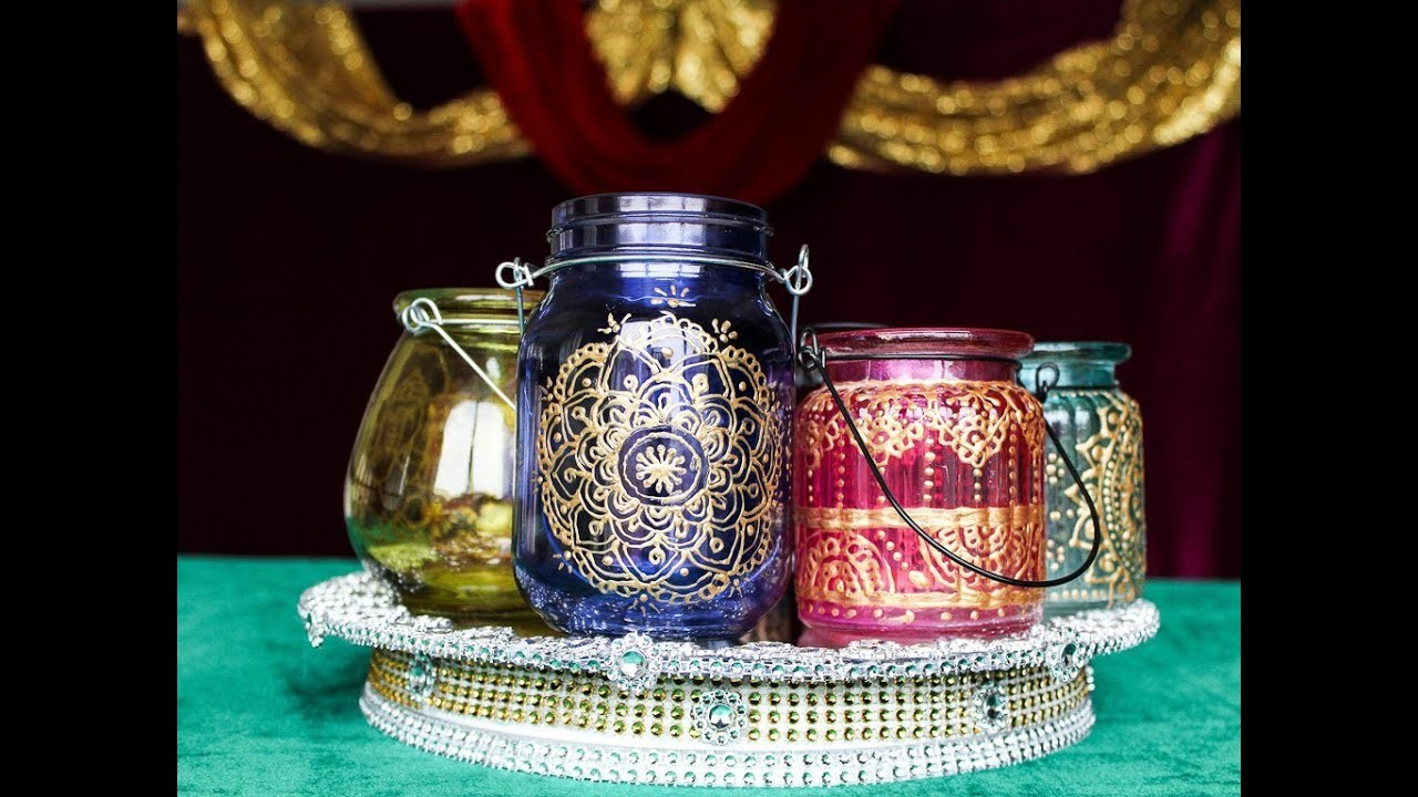 Just for $2 Easy and Quick DIY Henna Lanterns. Moroccan Lanterns. Bohemian Decor