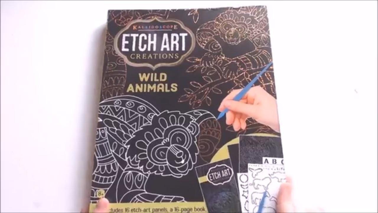 "Kaleidoscope Etch Art Creations ""Wild Animals"" Scratch Art Paper Kit"