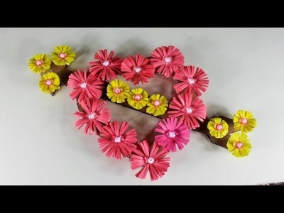 Make Awesome Wall Hanging Using Paper   Mr Crafts 20