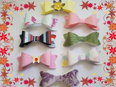 Making cute paper Bow tie for explosion box.cards.scrapbooking.