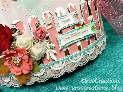 Mixed media Mail Holder! Papericious! Easy DIY! UrooCreations! Handmade gifts! Crafts! Home decor