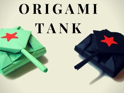 Origami TANK. How to Make a Paper Tank - Hand made