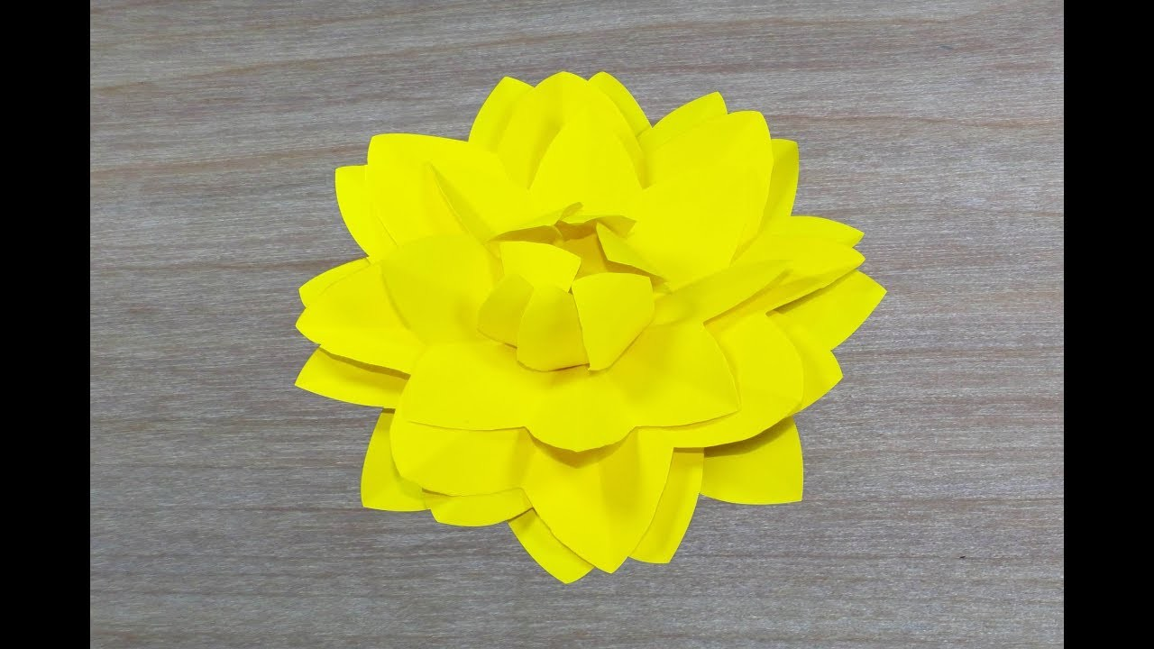 Paper Crafts Origami Flower Easy Paper Flower Paper Dahlia
