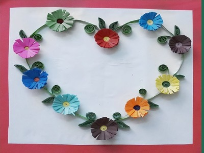 Paper | How to Make Paper Quilling Flower Beautiful Heart Design | Siri Art&Craft |